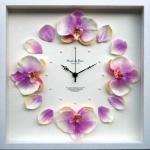 《時計》Orchid clock Purple(オーキッド/洋ラン クロック パープル)