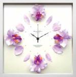 《時計》Cattleya clock Light Purple(カトレヤ/洋ラン クロック ライトパープル)