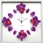 《時計》Cattleya clock Purple(カトレヤ/洋ラン クロック パープル)