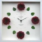 《時計》Gerbera Clock Wine Red(ガーベラ クロック ワインレッド)