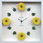 《時計》Gerbera Clock Yellow(ガーベラ クロック イエロー)