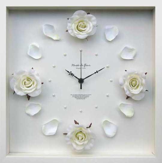 《時計》Rose clock Cream(ローズ クロック クリーム)