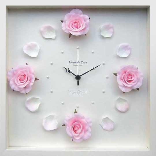 《時計》Rose clock Pink(ローズ クロック ピンク)