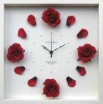 《時計》Rose clock Wine Red(ローズ クロック ワインレッド)