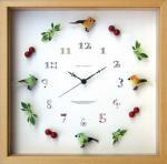 《時計》Bird clock GreenxYellow(バード クロック グリーン×イエロー)