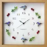 《時計》Bird clock BluexPurple(バード クロック ブルー×パープル)