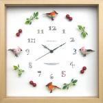 《時計》Bird clock PinkxOrange(バード クロック ピンク×オレンジ)