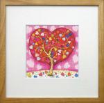 《アートフレーム》Lame series Heart Tree(ラメシリーズ ハートツリー)(ゆうパケット)