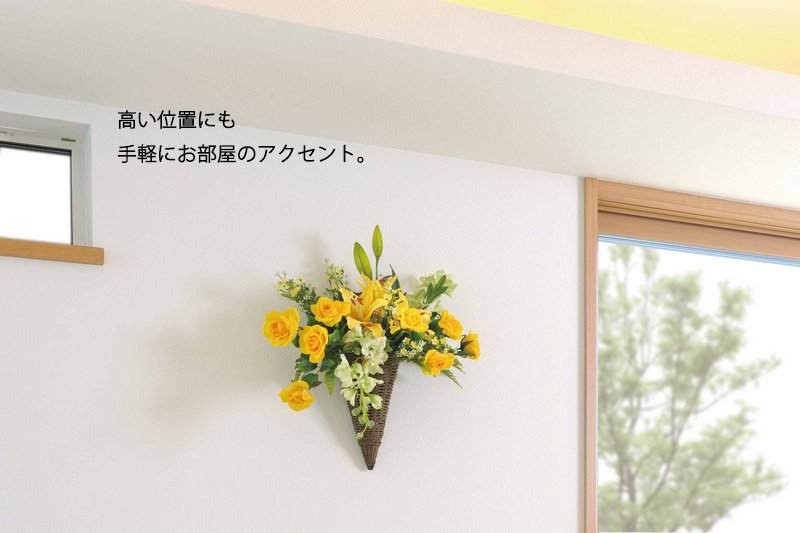 《アートフラワー》デラックスローズリース/光触媒〔壁掛けタイプ〕
