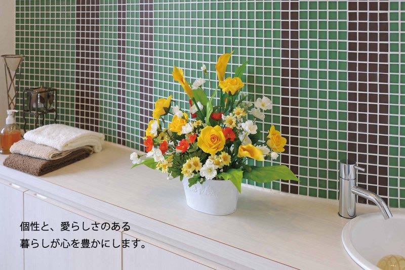 《アートフラワー》開運8色フラワー/光触媒〔テーブルタイプ〕