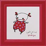 《アートフレーム》リトルピンク&ブロキガ ミニ アート フレーム ブロキガ1(ゆうパケット)