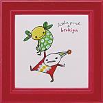 《アートフレーム》リトルピンク&ブロキガ ミニ アート フレーム ブロキガ4(ゆうパケット)