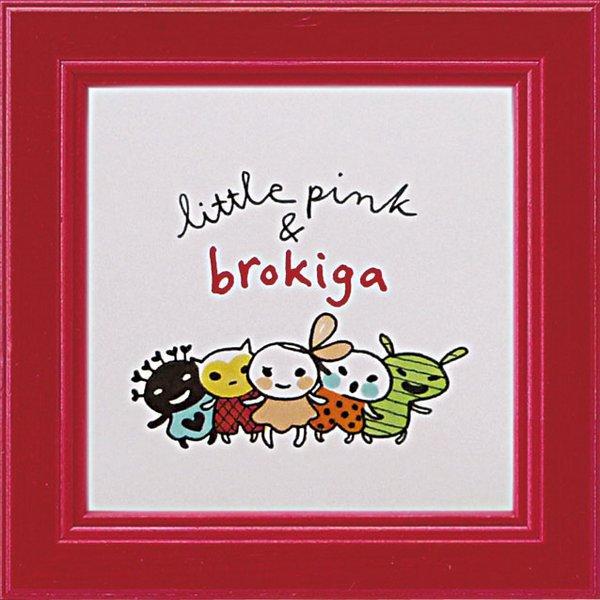 《アートフレーム》リトルピンク&ブロキガ ミニ アート フレーム ロゴ(ゆうパケット)