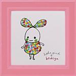 《アートフレーム》リトルピンク&ブロキガ ミニ アート フレーム ブロキガ6(ゆうパケット)