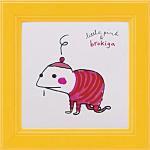 《アートフレーム》リトルピンク&ブロキガ ミニ アート フレーム ブロキガ10(ゆうパケット)