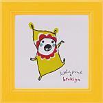 《アートフレーム》リトルピンク&ブロキガ ミニ アート フレーム ブロキガ14(ゆうパケット)