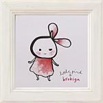 《アートフレーム》リトルピンク&ブロキガ ミニ アート フレーム リトルピンク2(ゆうパケット)