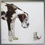 《手描き油絵》オイル ペイント アート ベスト フレンド