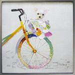 《手描き油絵》オイル ペイント アート バイシクル2