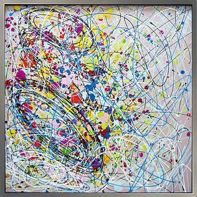 《手描き油絵》オイル ペイント アート アブストラクト2