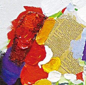 《手描き油絵》オイル ペイント アート アブストラクト3