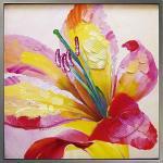 《手描き油絵》オイル ペイント アート リリー
