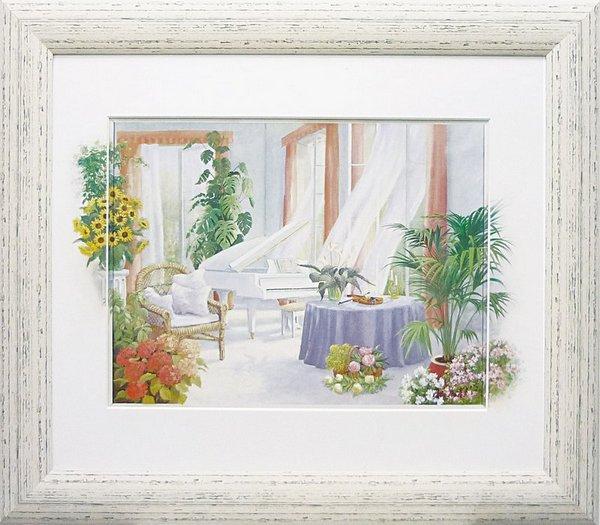 《絵画》ピーター モッツ ホワイト ピアノ