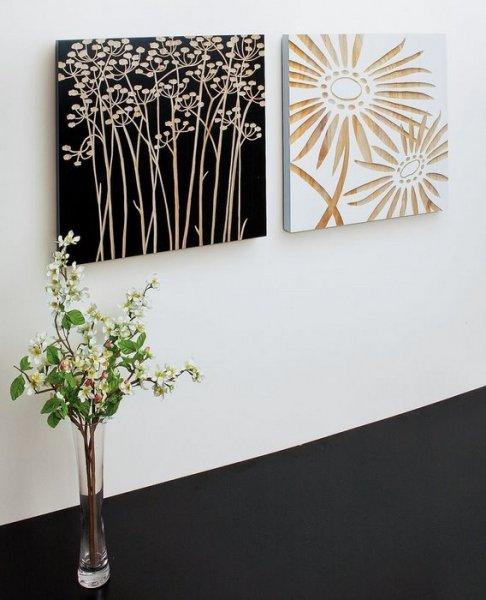 《木彫りアート》ウッドスカルプチャー アート ネーチャーガーベラ (ホワイト)