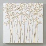 《木彫りアート》ウッドスカルプチャー アート フィールドフラワー (ホワイト)