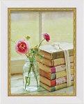 《絵画》ミニゲル アートフレーム マンディー リン 「ブルーミング ブック」(ゆうパケット)