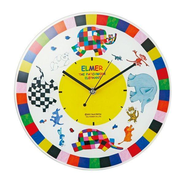 《時計》ぞうのエルマー ガラスウォールクロック