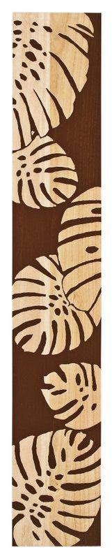 《木彫りアート》ウッド スカルプチャー アート モンステラ (ブラウン)