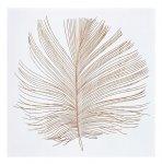 《木彫りアート》ウッド スカルプチャー アート フェザーA (ホワイト)