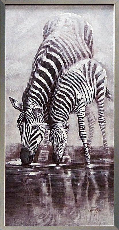 《手描き油絵》オイル ペイント アート マザー アンド チャイルド