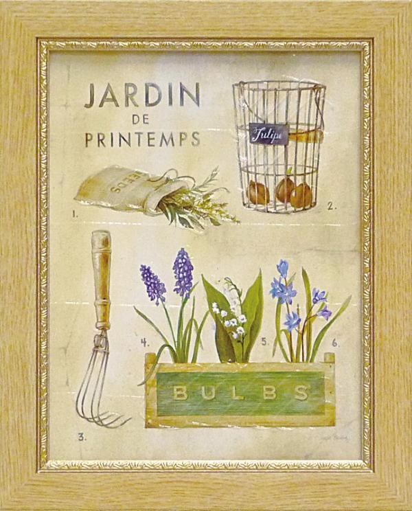 《ミニゲル アートフレーム》アンジェラ スターリング 「スプリング ガーデン ポスター」(ゆうパケット)