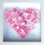 《フラワーフレーム》Heart Series Pink Heart(ハート シリーズ ピンク ハート)