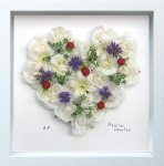 《フラワーフレーム》Heart Series White Heart II(ハート シリーズ ホワイト ハート)