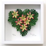 《フラワーフレーム》Heart Series Tropical Heart(ハート シリーズ トロピカル ハート)