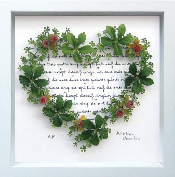 《フラワーフレーム》Heart Series Grass Heart(ハート シリーズ グラス ハート)