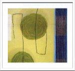 《絵画・抽象画》Sybille Hassinger 0347 (Aquarelle)(シビル ハッシンジャー アクワレル/水彩画)