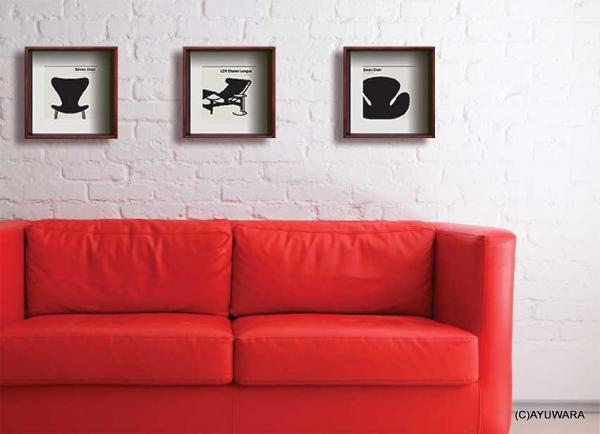 《アートフレーム》Modern Design Studio LC4 Chaise Longue(モダン・デザイン・スタジオ シェーズロング )
