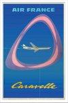 《ポスターフレーム》Jean Colin Air France Caravelle(ジャン・コラン エールフランス カラベル)