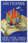 《ポスターフレーム》Dehedin Air France NewYork-Paris(ディーエン エールフランス ニューヨーク−パリ)