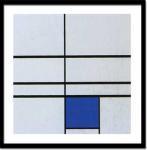 《絵画・抽象画》ピエト モンドリアン アンタイトル(コンポジション ウィズ ブルー)1935(シルクスクリーン)