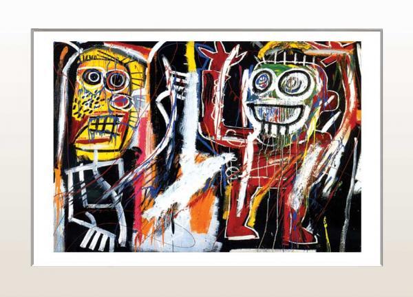《アートフレーム》Jean-Michel Basquiat Dustheads,1982(ジャン=ミシェル・バスキア )(ゆうパケット)