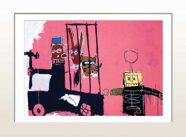 《アートフレーム》ジャン=ミシェル・バスキア モラセス、1983(ゆうパケット)