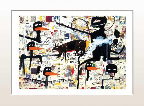 《アートフレーム》ジャン=ミシェル・バスキア テノール、1985(ゆうパケット)