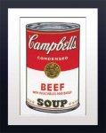 《アートフレーム》Warhol Campbell's Soup(Beef)(アンディ・ウォーホル キャンベルのスープ(ビーフ))