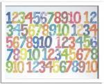 《アートフレーム》Eric Carle Numbers(エリック カール ナンバーズ)