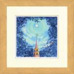 《水彩画》Harumi Kurinoki-S full moon(栗乃木 ハルミ フルムーン)